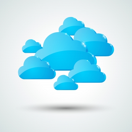 Blue clouds for Your design Vector