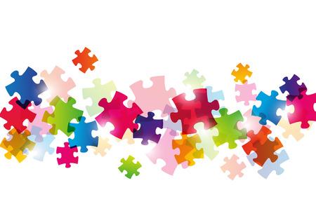 Color puzzle Hintergrund für Ihr Design Standard-Bild - 22378680