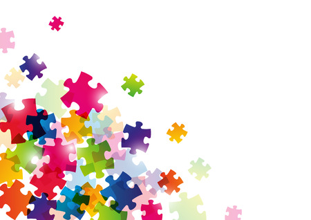 Color puzzle Hintergrund für Ihr Design Standard-Bild - 22378684