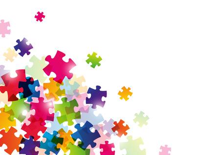 Kleur puzzel achtergrond voor uw ontwerp