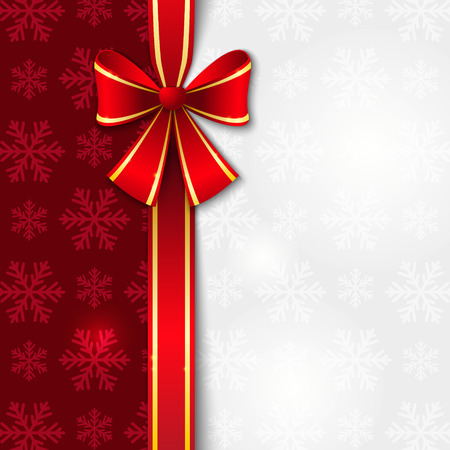 Christmas background with red ribbon Vector