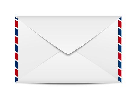 Envelope icon on white background Illustration