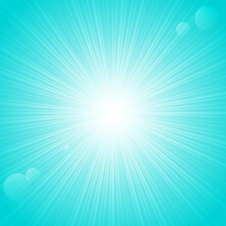 backgrund: Sunny rays on blue backgrund