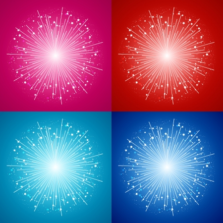 Set of vector starry fireworks Stock Vector - 22491501