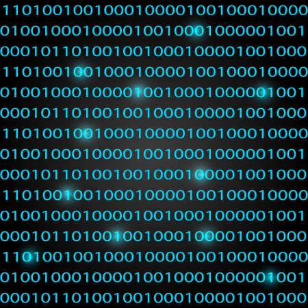 Binary code background - concept of information technologies Illustration