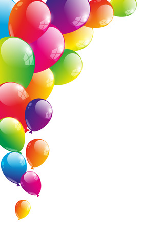 Color background with glossy balloon Ilustrace