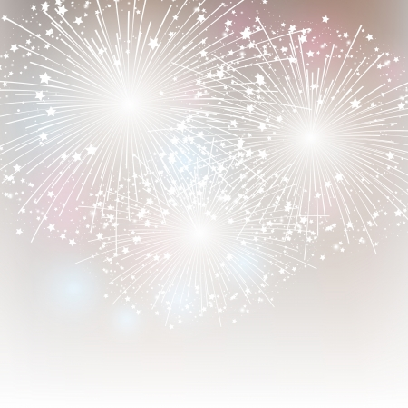 silver stars: Starry fireworks background with place for text