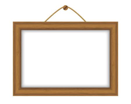 Marco de madera con lugar para el texto Foto de archivo - 22713349