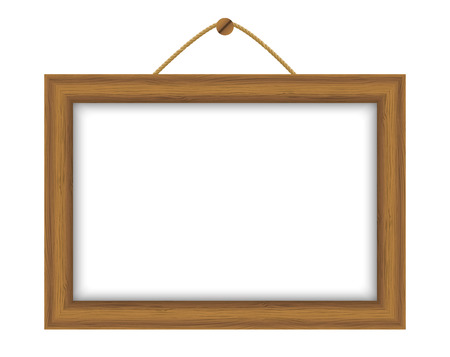 wooden frame: Wooden frame with place for text