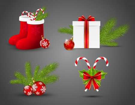 Set of vector Christmas icons Vector