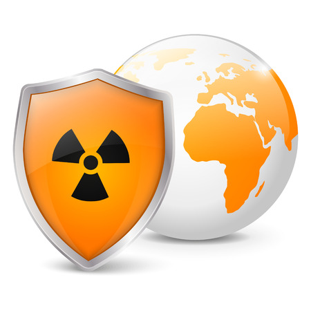 Concept of global radiation safety Stock Vector - 22953804