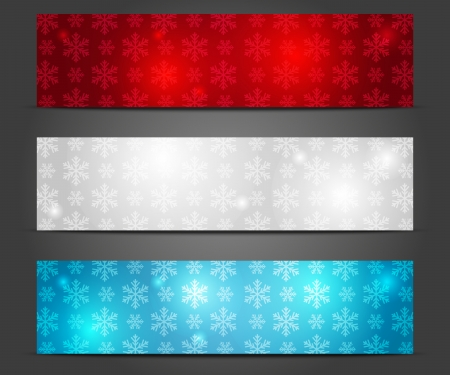 Set of shiny Christmas banners Vector