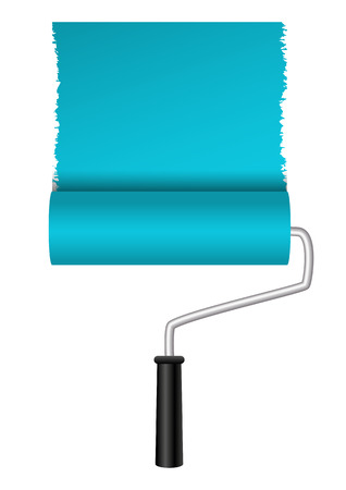 Paint roller on white background Vector