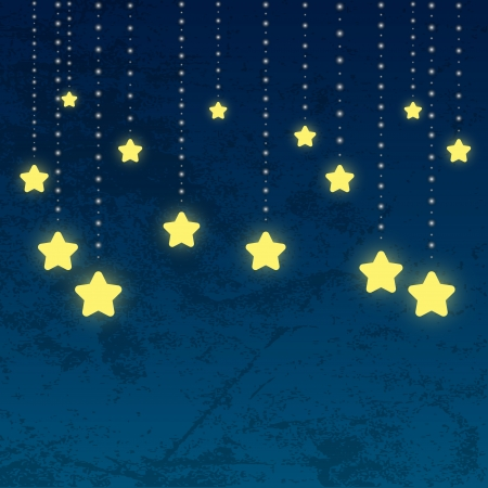 Nights background with shiny stars Vector