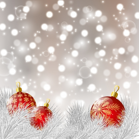silver balls: Christmas background with balls Illustration