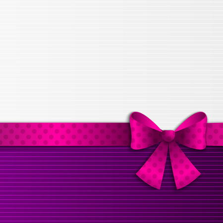 Purple and white background with ribbon Vector