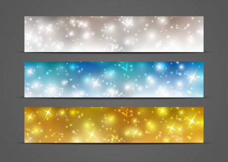 Set of horizontal banners 500 x 100 size Vector