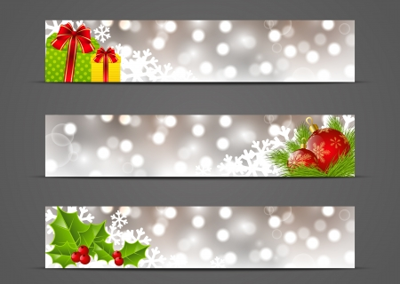 christmas banner: Set of horizontal Christmas banners 500 x 100 size