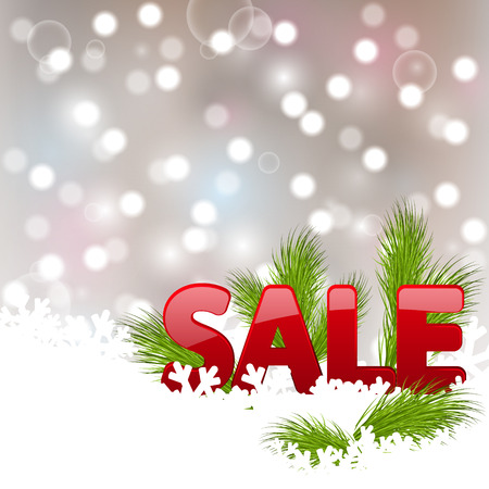 Christmas with sale letters Vector