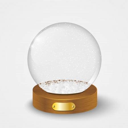Boule de verre de Noël avec de la neige