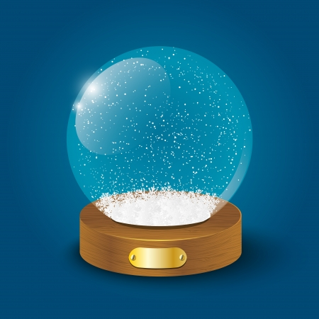 christal: Christmas glass ball with snow