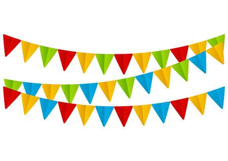 color paper: Banderas de papel de colores sobre blanco Vectores