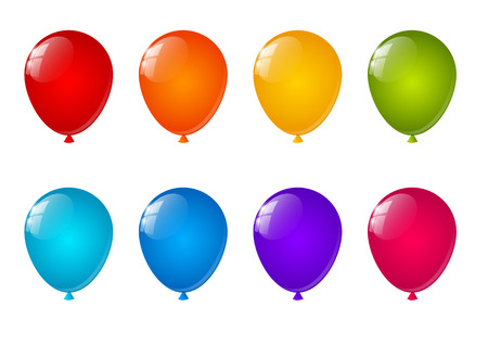 balloons: Set of color air balloons