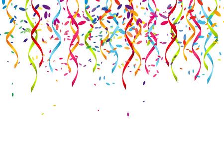Partij achtergrond met kleur linten