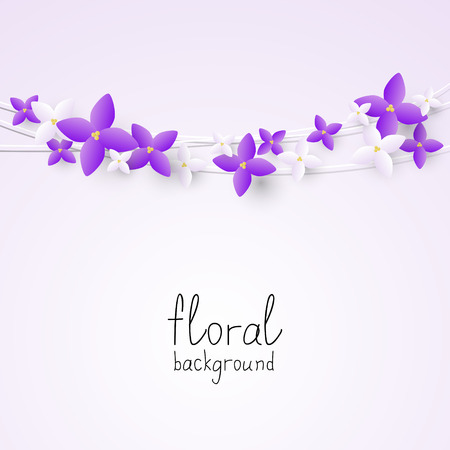Lilac flowers border for Your design Vector