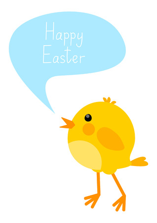 Easter card with little chicken Vector