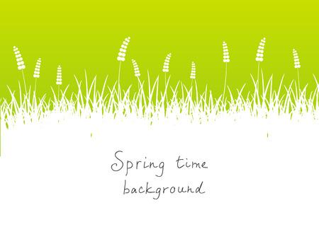 place for text: Fondo verde primavera con el lugar para el texto Vectores