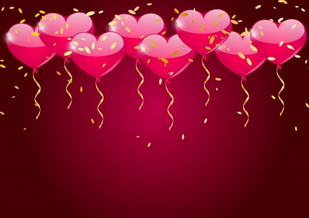 Heart balloons background photo
