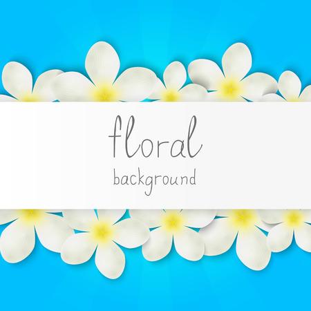 Frontière floral avec place pour le texte Vecteurs