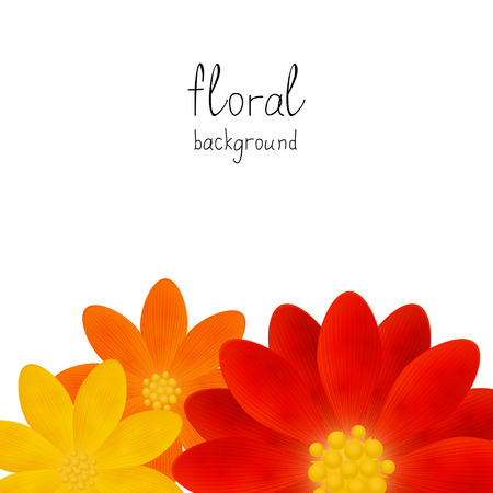 Floral background with place for text Vector
