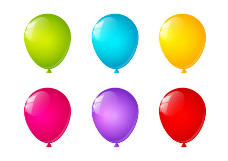 Set of bright color balloons Vector
