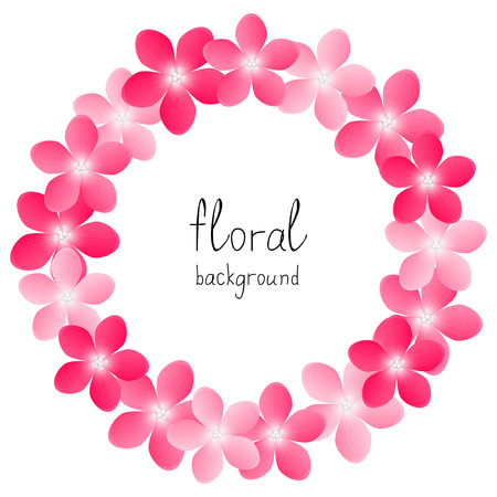 Pink floral background with place for text Vector