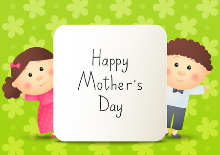 little princess: Greeting card for Mothers day