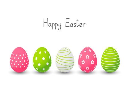 huevo caricatura: Los huevos de Pascua en el fondo blanco