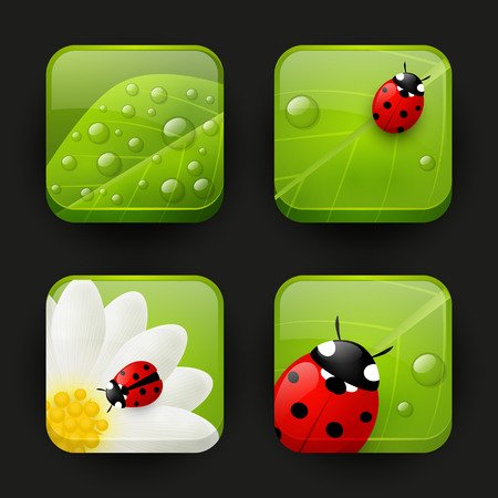 Set of fresh app icons Vector