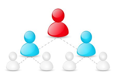 jerarquia: Concepto de jerarquía corporativa