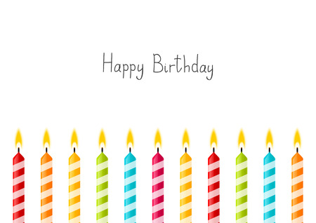 candles: Birthday background with color candles