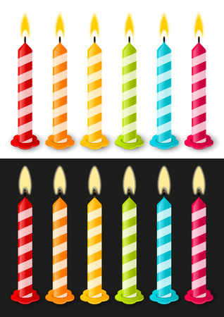 Set of color Birthday candles