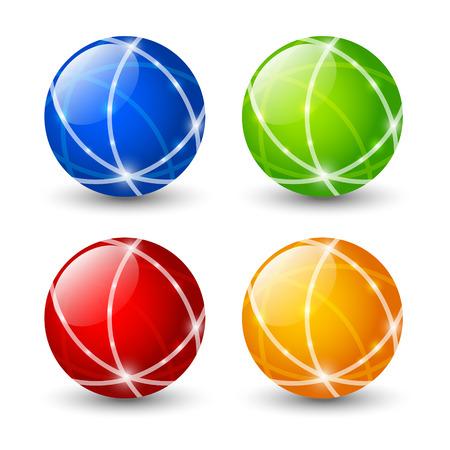 icone tonde: Set di icone rotonde di colore
