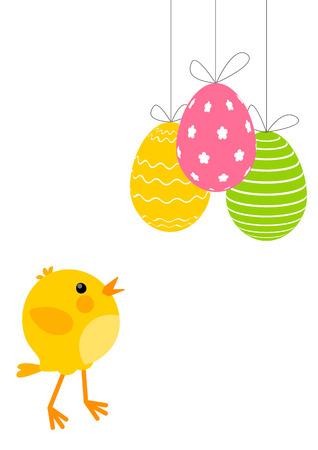 Huevos de Pascua con pollo tierno