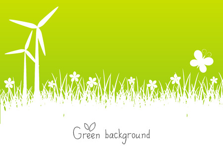 Green spring background with place for text Vector
