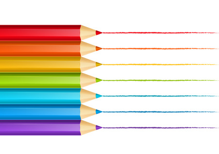 Drawing pencils for Your design Vector