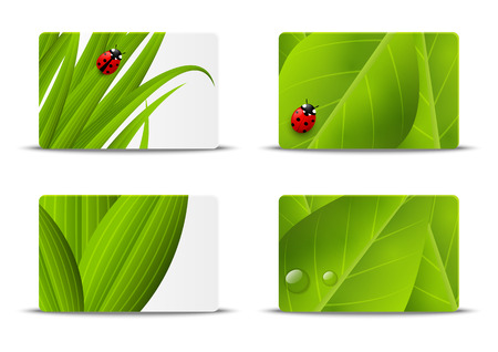 Set of ecology business cards Vector