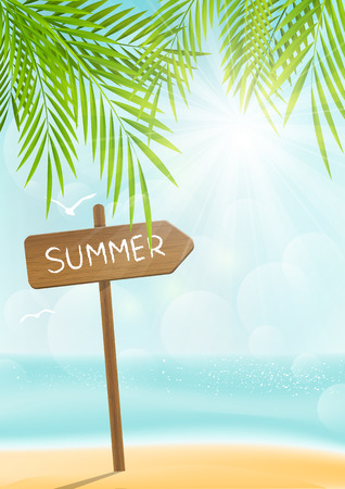 Summer beach background for Your design Vector