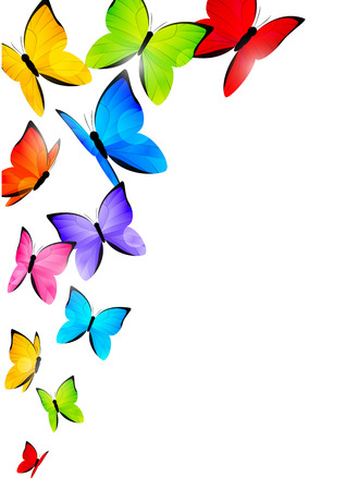butterfly border: Color butterflies for Your design Illustration