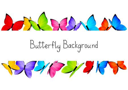 あなたのテキストのための場所と蝶フレーム